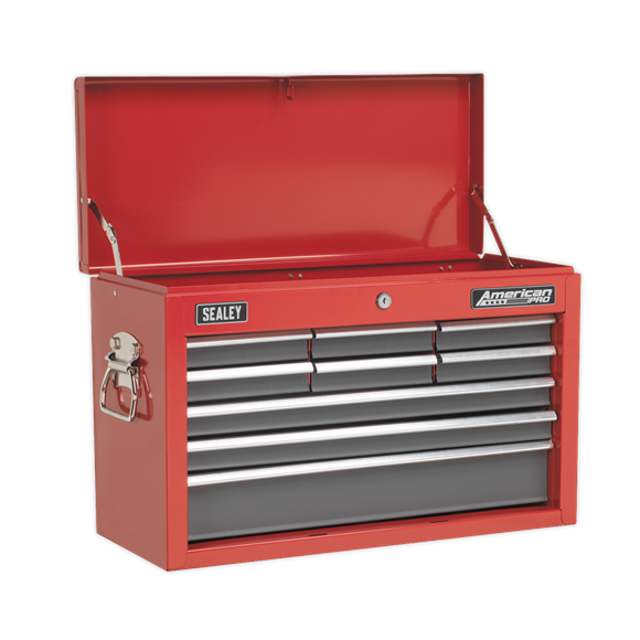 Sealey AP22509BB Topchest 9 Drawer with Ball Bearing Slides - Red/Grey